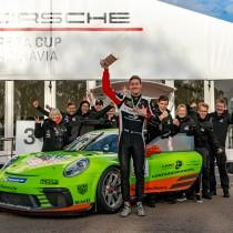 Edvin Hellsten körde hem bronset i Porsche Carrera Cup Scandinavia 2020!